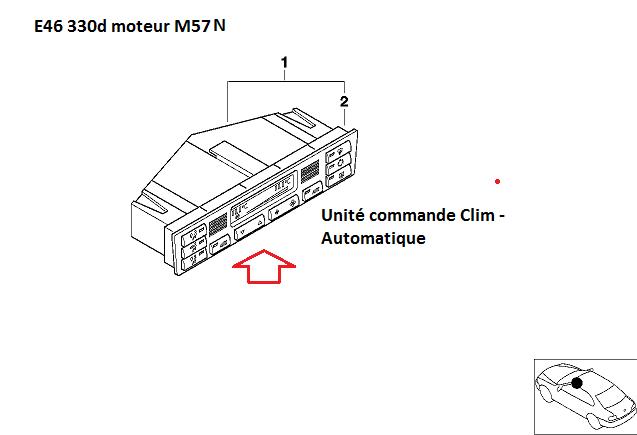 e46 330d 07/2003 Moteur M57N pb volet clim  64_e4611