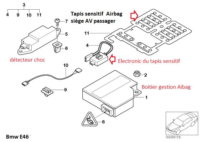 [ BMW E46 330D an 2001 ] Voyant Airbag porte conducteur 65_tap17