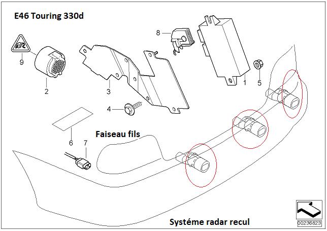 [ BMW E46 330XD Touring an 2003 ] Problème radar de recul(Résolu) 66_rad10