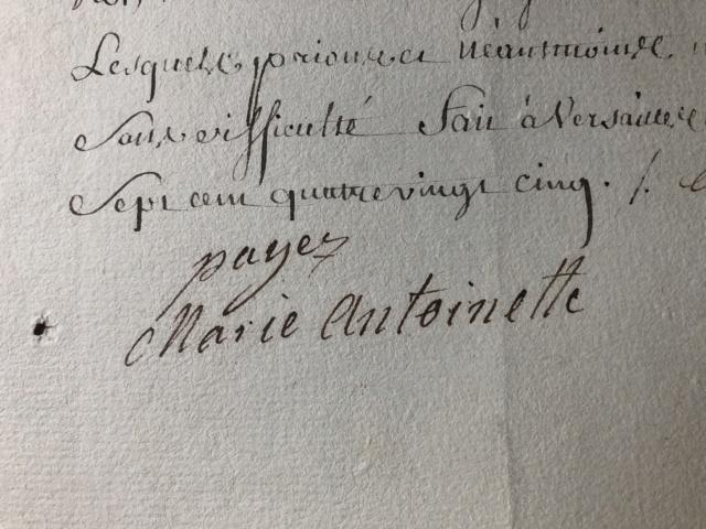 Correspondance de Marie-Antoinette : Le filigrane du papier utilisé par la reine  0a31ec10