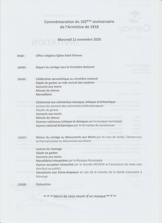 [ Histoires et histoire ] Cérémonie du 11 novembre - Page 5 Numzor10