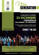 New Generation Gospel Crew in concerto a Cavazzale domenica 23 dicembre - ore 18 Cavazz10
