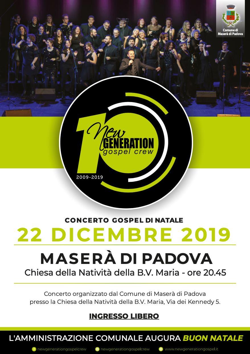New Generation Gospel Crew in concerto a Maserà (PD) domenica 22 dicembre Masera10