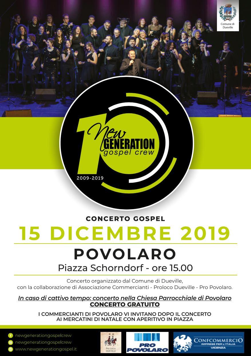 New Generation Gospel Crew in concerto a Povolaro domenica 15 dicembre 2019 Povola10
