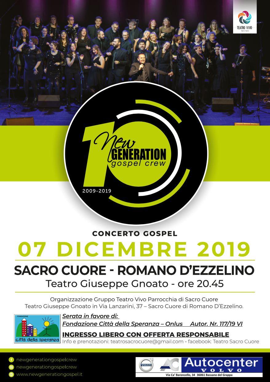 New Generation Gospel Crew in concerto a Romano d'Ezzelino sabato 7 dicembre Romano10