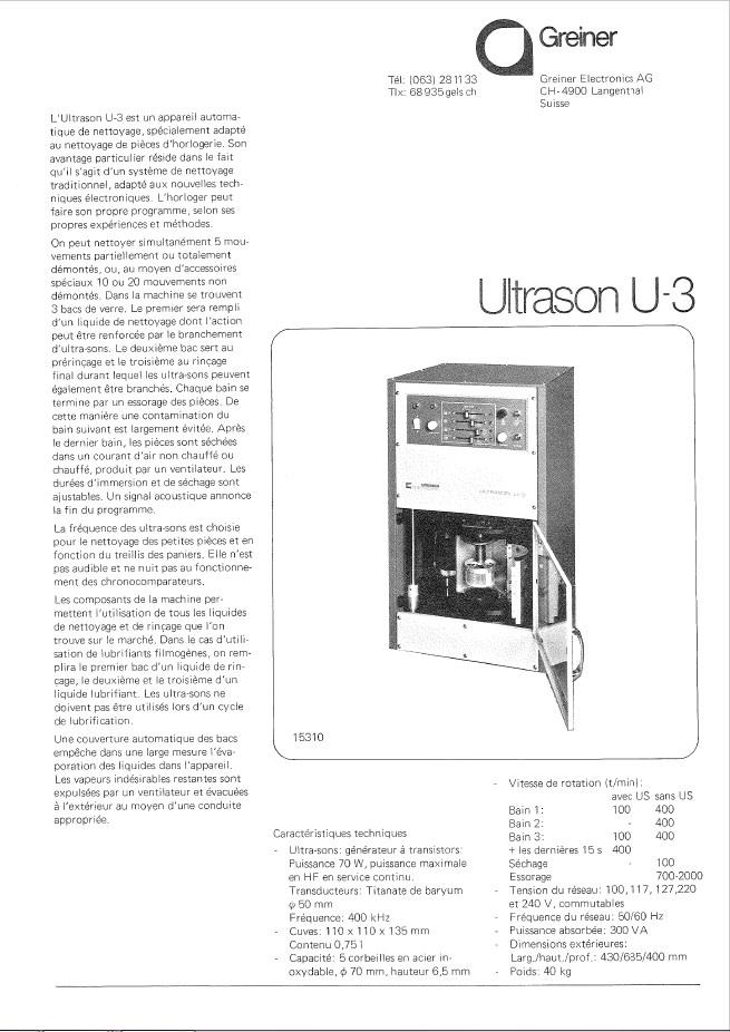 Informations techniques sur nettoyeur ultrason SVP - Page 3 U-310