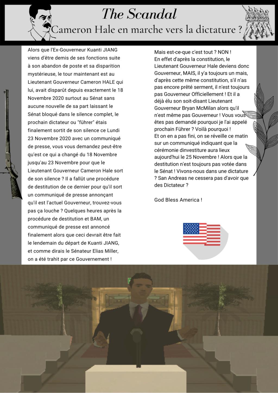 THE SCANDAL - Cameron Hale en marche vers la Dictature ? The_sc10