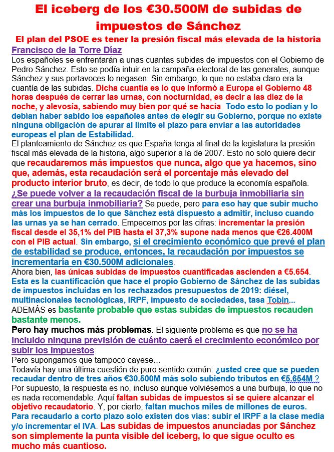 iCEBERG DE LAS PRÓXIMAS SUBIDAS FISCALES 19051010