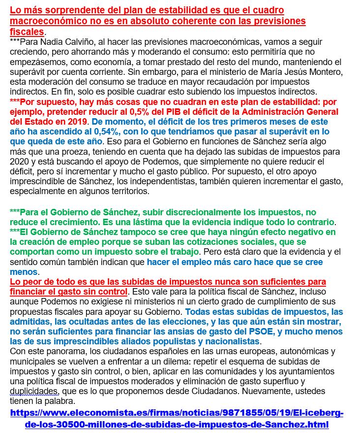 iCEBERG DE LAS PRÓXIMAS SUBIDAS FISCALES 19051011