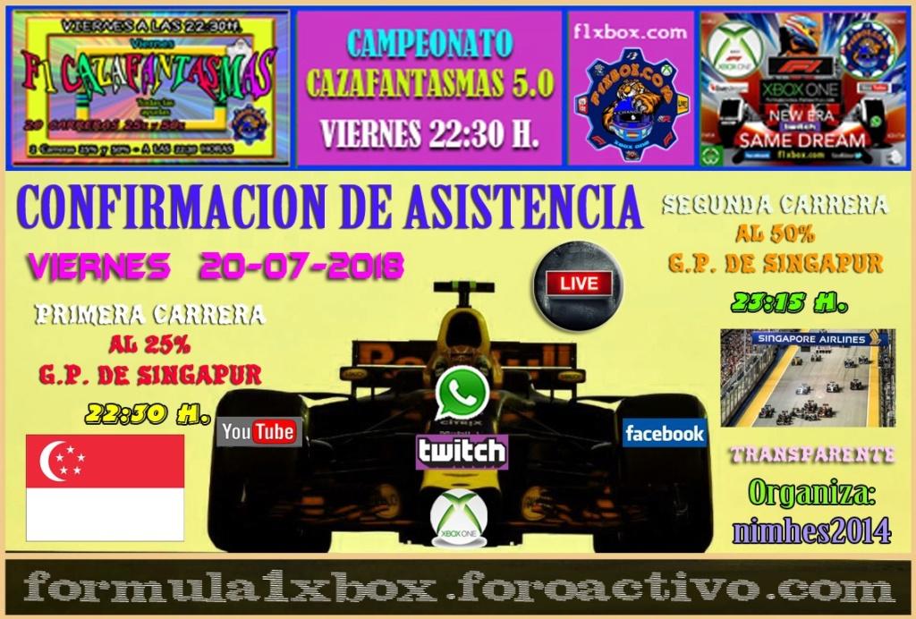 F1 2017 - XBOX ONE / CAMPEONATO CAZAFANTASMAS 5.0 - F1 XBOX / CONFIRMACIÓN DE ASISTENCIA AL GRAN PREMIO DE  SINGAPUR / VIERNES 20 - 07 - 2018 A LAS 22:30 HORAS. D5b01f10