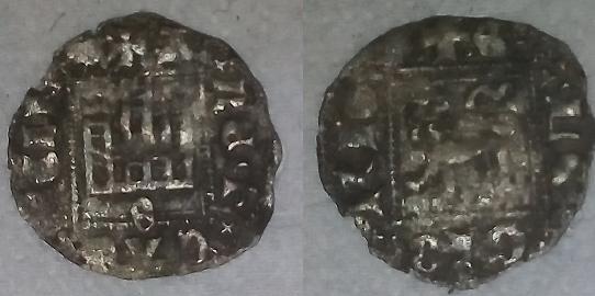 Dinero noven de Alfonso XI. Sevilla Vellon10