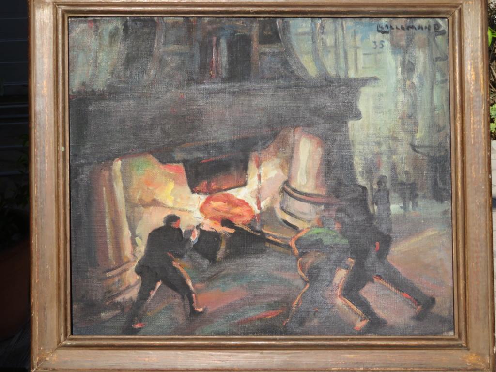 Louis LALLEMAND scène dans aciérie ? 1935 Img_2615