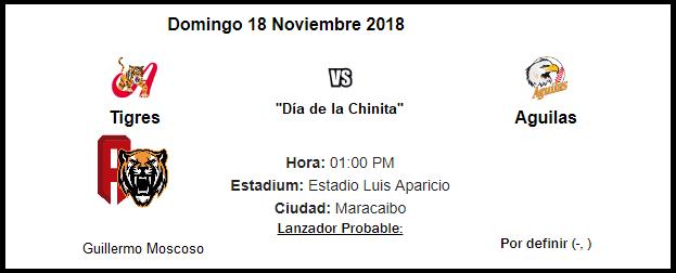 Tigres 4 - 0 Aguilas 18/11/18  (Juego de la Chinita) Aragua10