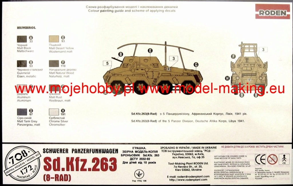 Sd.Kfz.263 (8 Rad) Schwerer Panzerfunkwagen (RODEN 1/72) 1364_210