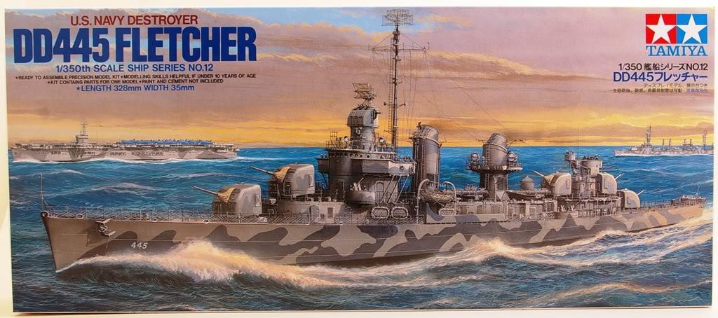 Tamiya 1/350 DD445 Fletcher Class Destroyer 350-dd10