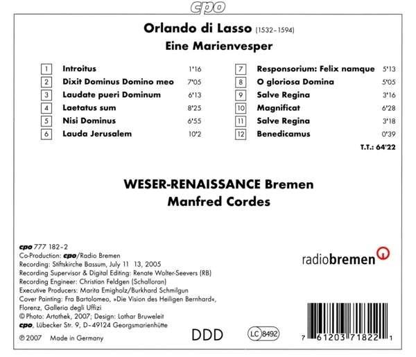 Découvrir la musique de la RENAISSANCE par le disque... - Page 3 07612011