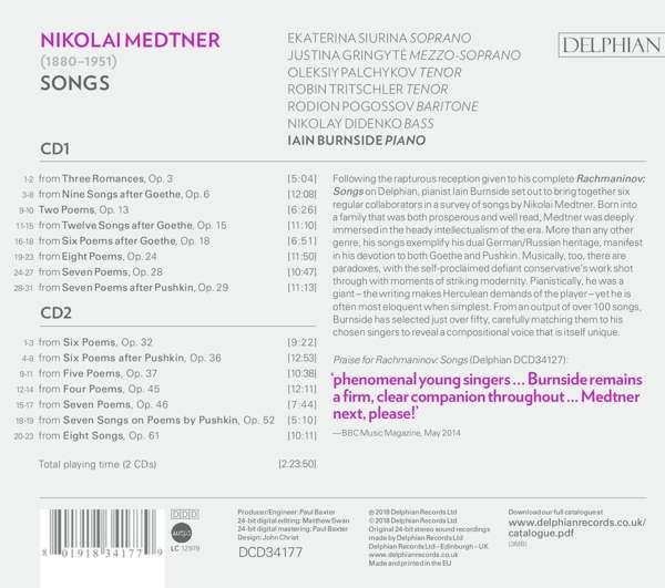 Petit guide discographique de la mélodie slave. 08019110