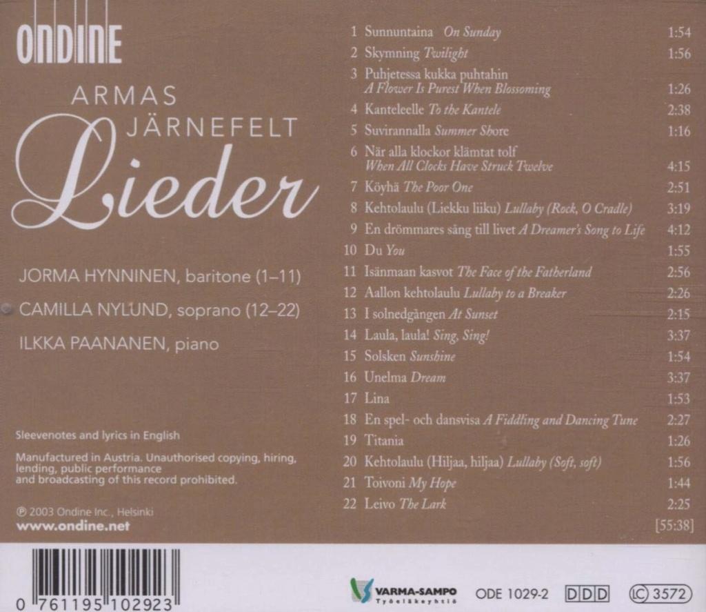 Petit guide discographique de la mélodie nordique. 61bzk210