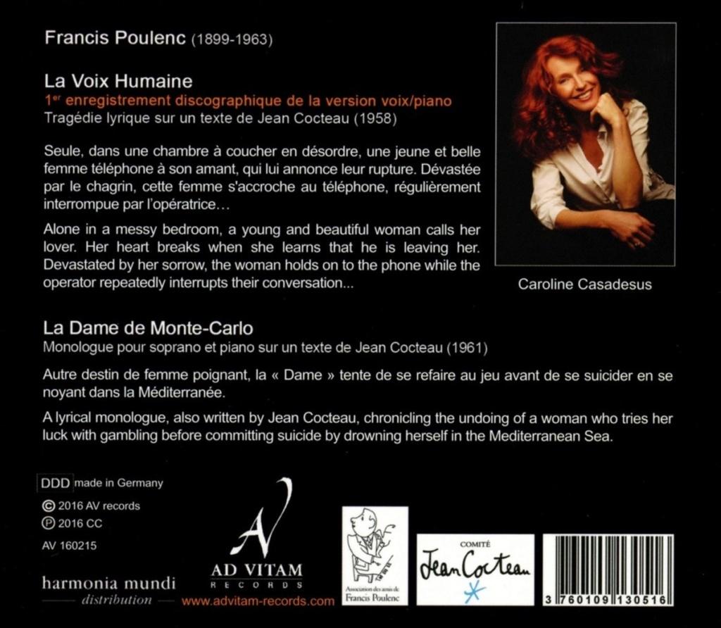 Poulenc - Mélodies et monologues 71emgx10