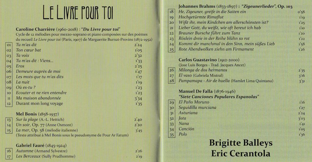 Disques disposant d'un livret traduit en français - Page 12 Charri10