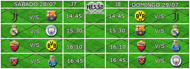 #HES-SD - HORARIOS J7 & J8  - 28/29 JULIO  Fixtur10