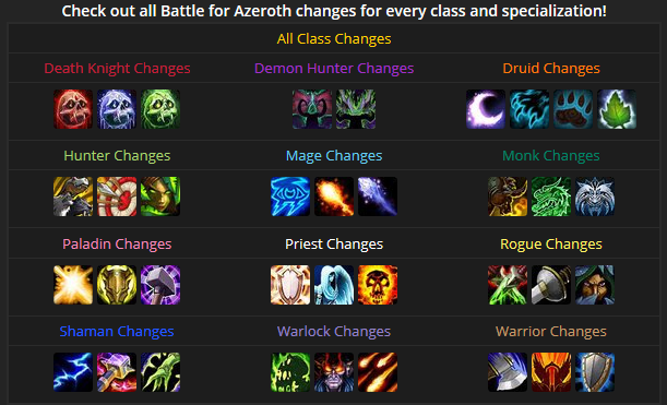 Class Changes in Battle for Azeroth Screen10