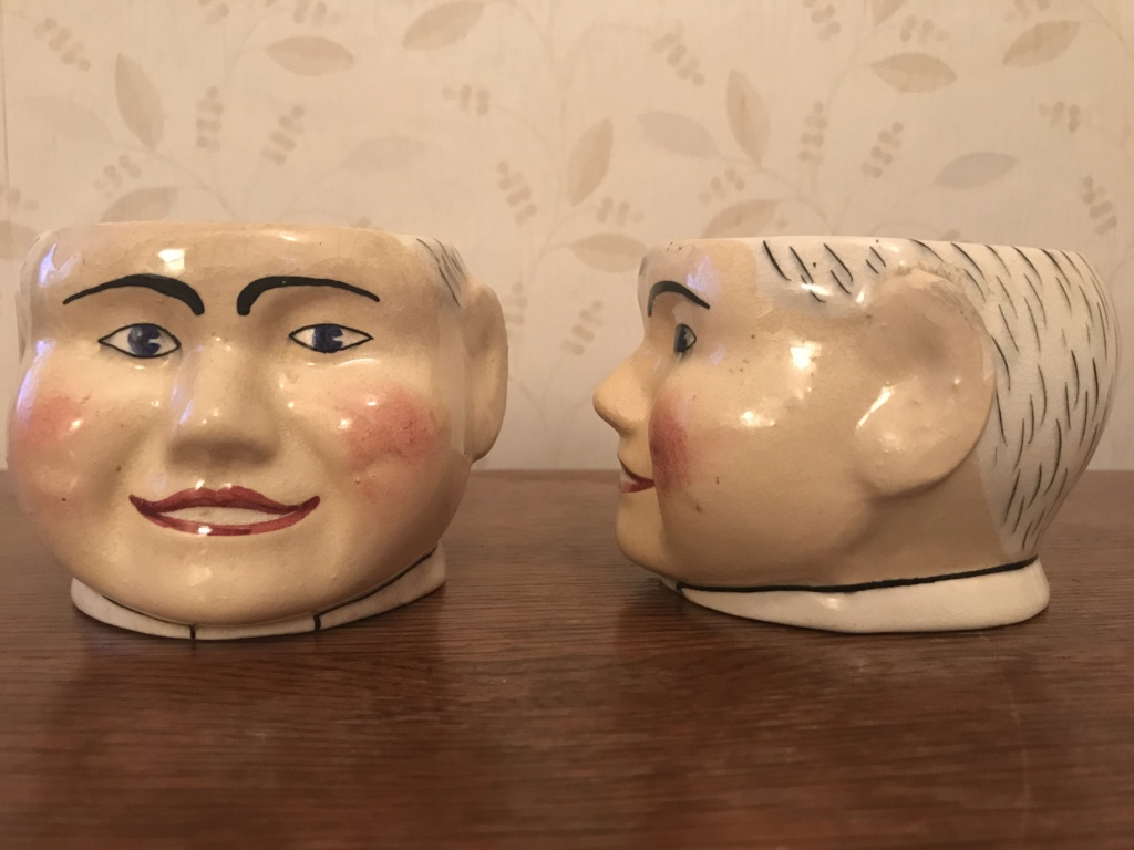 Help ID pair of ceramic pots / planters - thank you for any help provided. 1024fb10