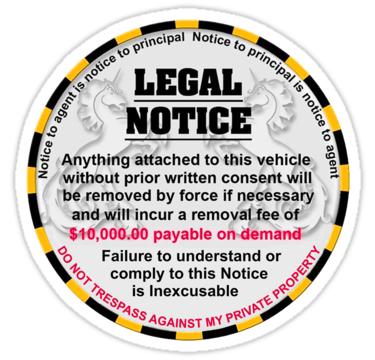 Parking Notice Download Sticke10