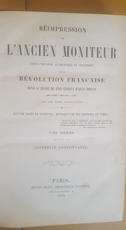 [Estimation] Gazette Nationale ou Moniteur Universel, Journaux Revolution 38600310