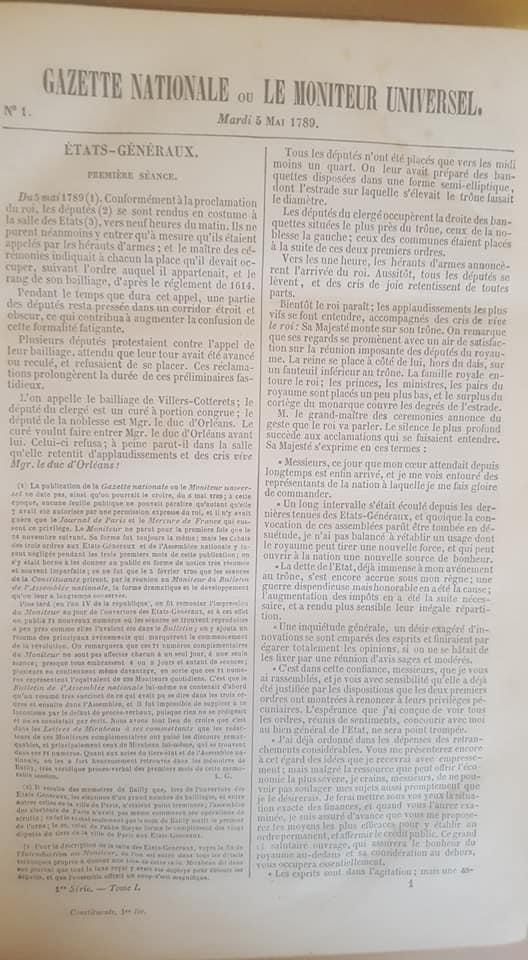[Estimation] Gazette Nationale ou Moniteur Universel, Journaux Revolution 38696010
