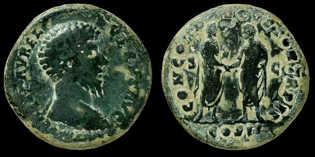 Sestercio Lucio Vero. CONCORD AVGVSTOR TR P II / COS II / S C. Lucio_10
