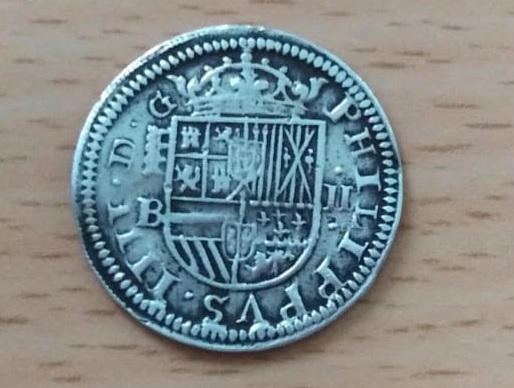 2 Reales Felipe IV (1652 Segovia B) Real Ingenio Revers12