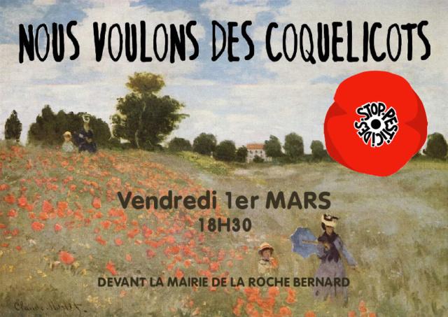 Mouvement des coquelicots à La Roche Bernard Affich10