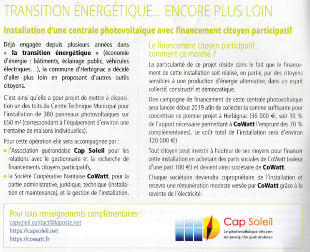 Financement participatif d'une Centrale Photovoltaïque à Herbignac Captur33