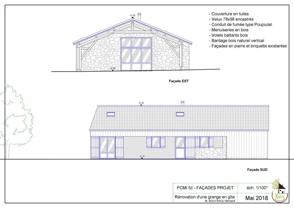 Poser de la paille en toiture en hiver Facade10