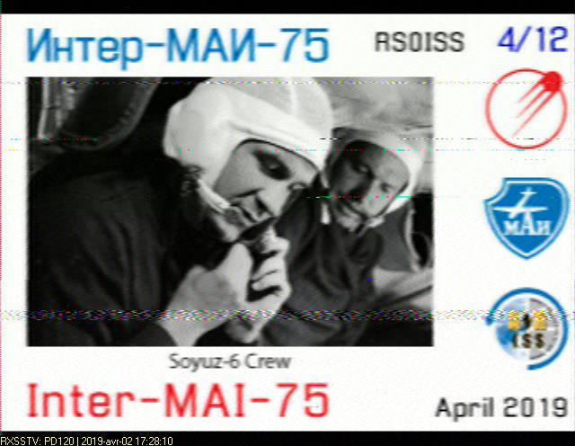 ISS SSTV 02/04/2019 2019-010