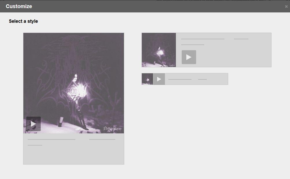 Balises pour les différents sites de diffusion vidéos/audios (youtube, bandcamp, soundcloud etc...) Bandca12