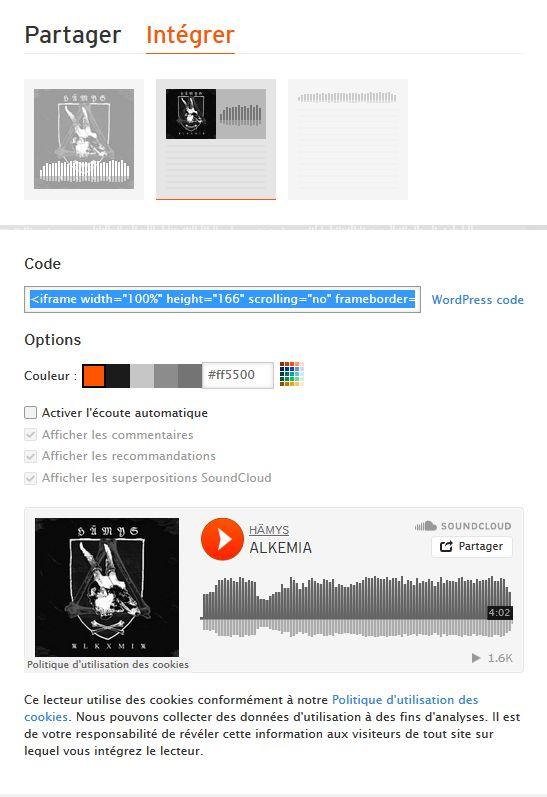 Balises pour les différents sites de diffusion vidéos/audios (youtube, bandcamp, soundcloud etc...) Soundc10