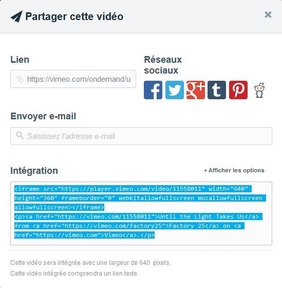 Balises pour les différents sites de diffusion vidéos/audios (youtube, bandcamp, soundcloud etc...) Vimeo210