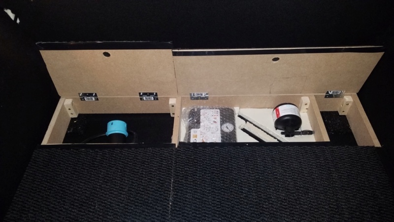 Rangement des câbles : Fabrication d'un double fond de coffre - Page 10 311