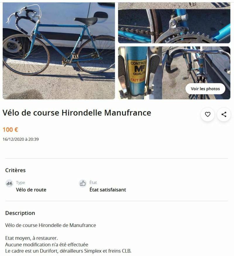 Vélo hirondelle manufrance Captu105