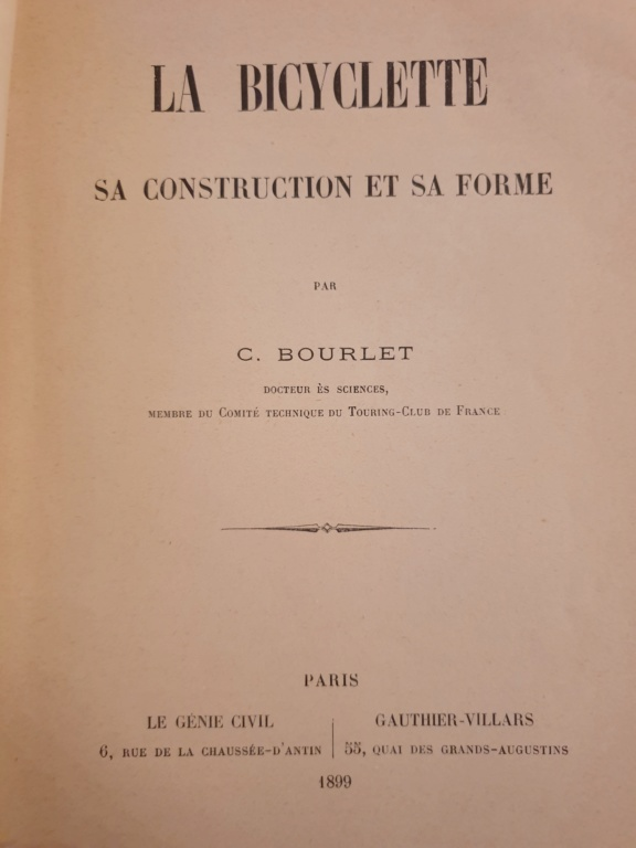 """La bicyclette, sa construction, sa forme"" 1899, C. Borlet 20190321"