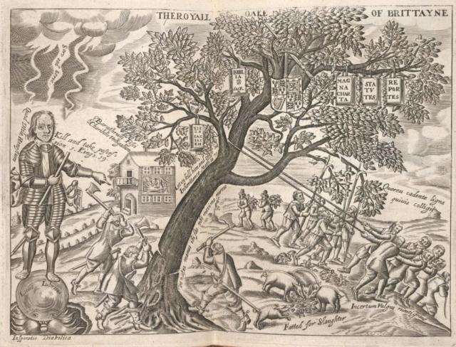 The Royal Oak, de Charles II d'Angleterre Cromwe10