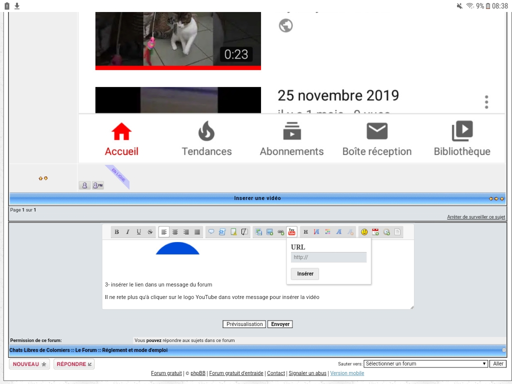 Inserer une vidéo  Screen10