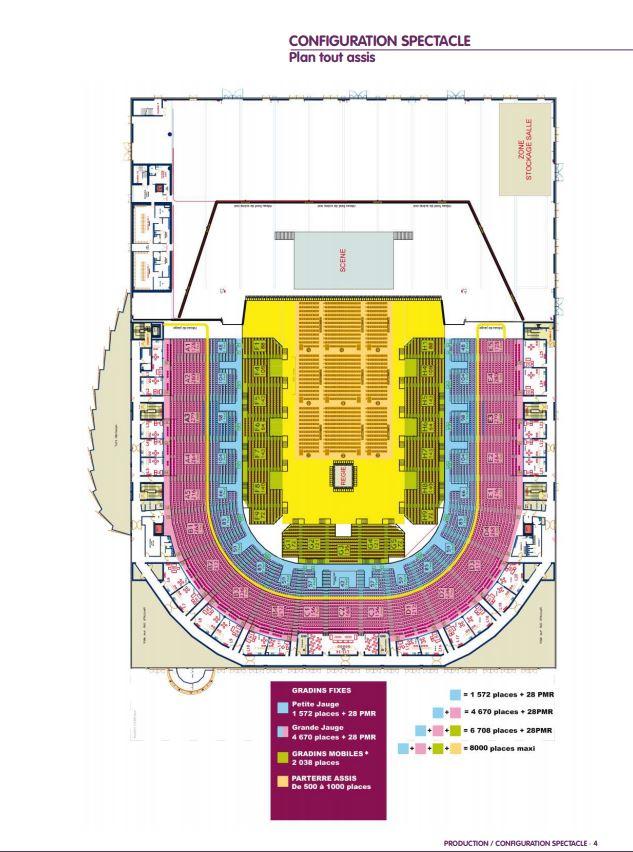La salle : Sud de France Arena Plan10