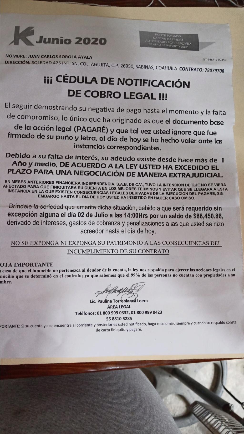 ¿Que hacer ante amenaza de orden de embargo en Banco Azteca Elektra? 2020_011