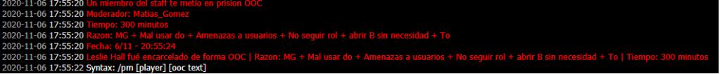 [Reporte] Admin Abuse y MG de Matias Gomez - DM Y NRE de Franco Ferreyra Asd12310