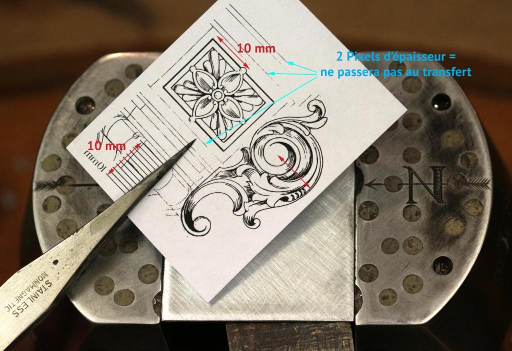 Transfert précis et solide d'une impression LASER sur métaux et autres matériaux. 3_tran10
