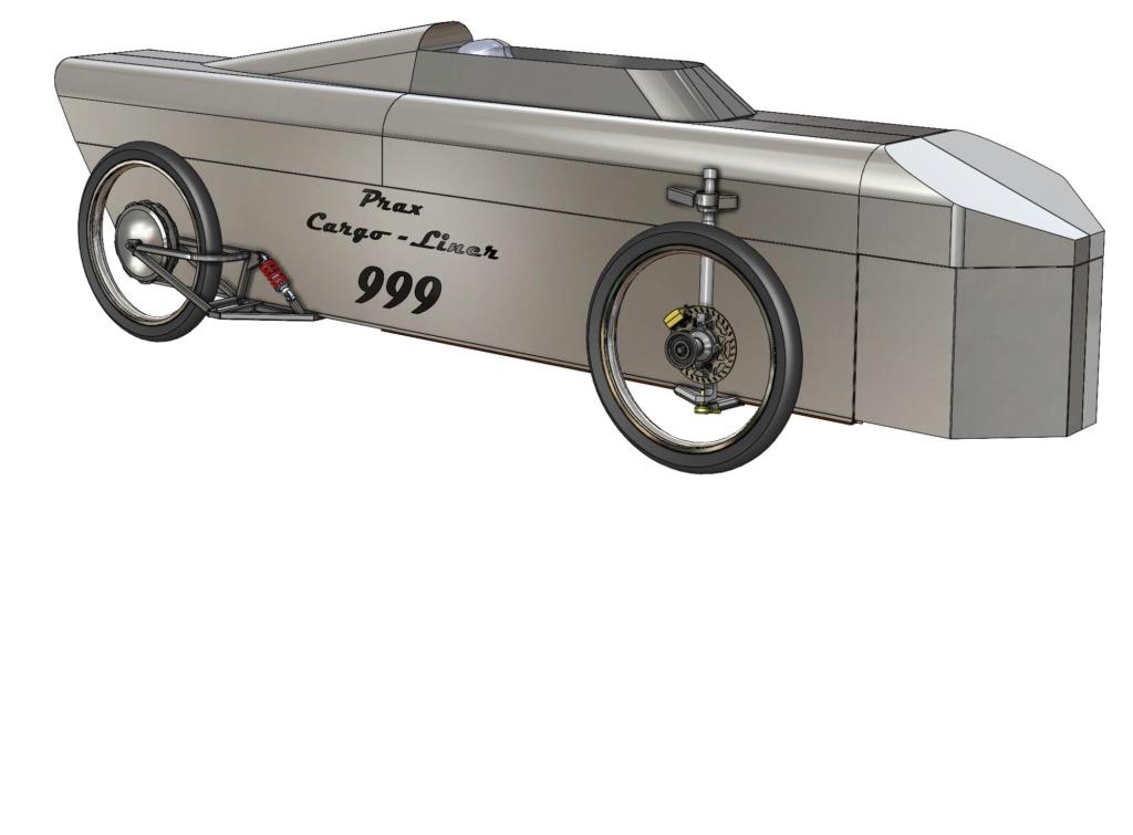 Projet de vélo cargo couché Prax-c10