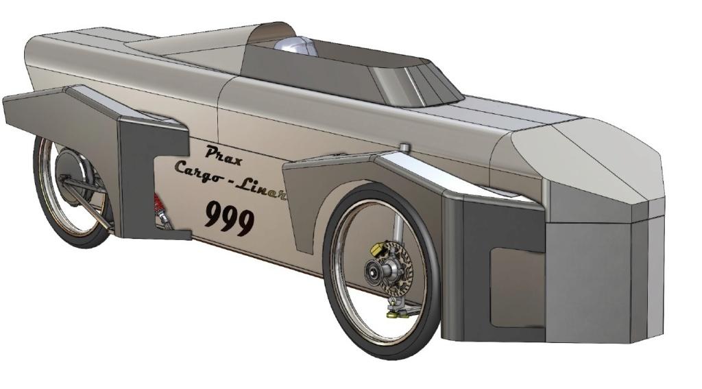 Projet de vélo cargo couché Prax-c11